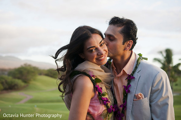 Portraits in Maui, Hawaii Indian Destination Wedding by Octavia Hunter Photography
