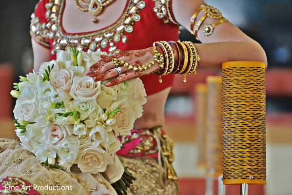 Bridal Bouquet in Cancun, Mexico Destination Indian Wedding by Fine Art Productions
