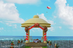 This destination Indian wedding is a beautiful outdoor event.
