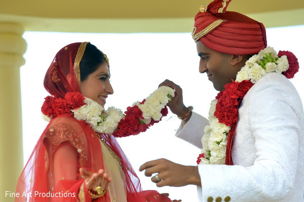 Ceremony in Cancun, Mexico Destination Indian Wedding by Fine Art Productions