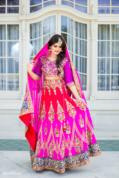 Bridal Fashions in Red Paisleys 2014 Designer Collection by MnMfoto