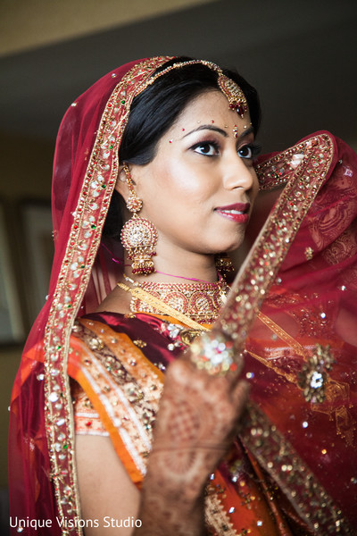 Getting Ready in Long Island, NY Indian Wedding by Unique Visions Studio