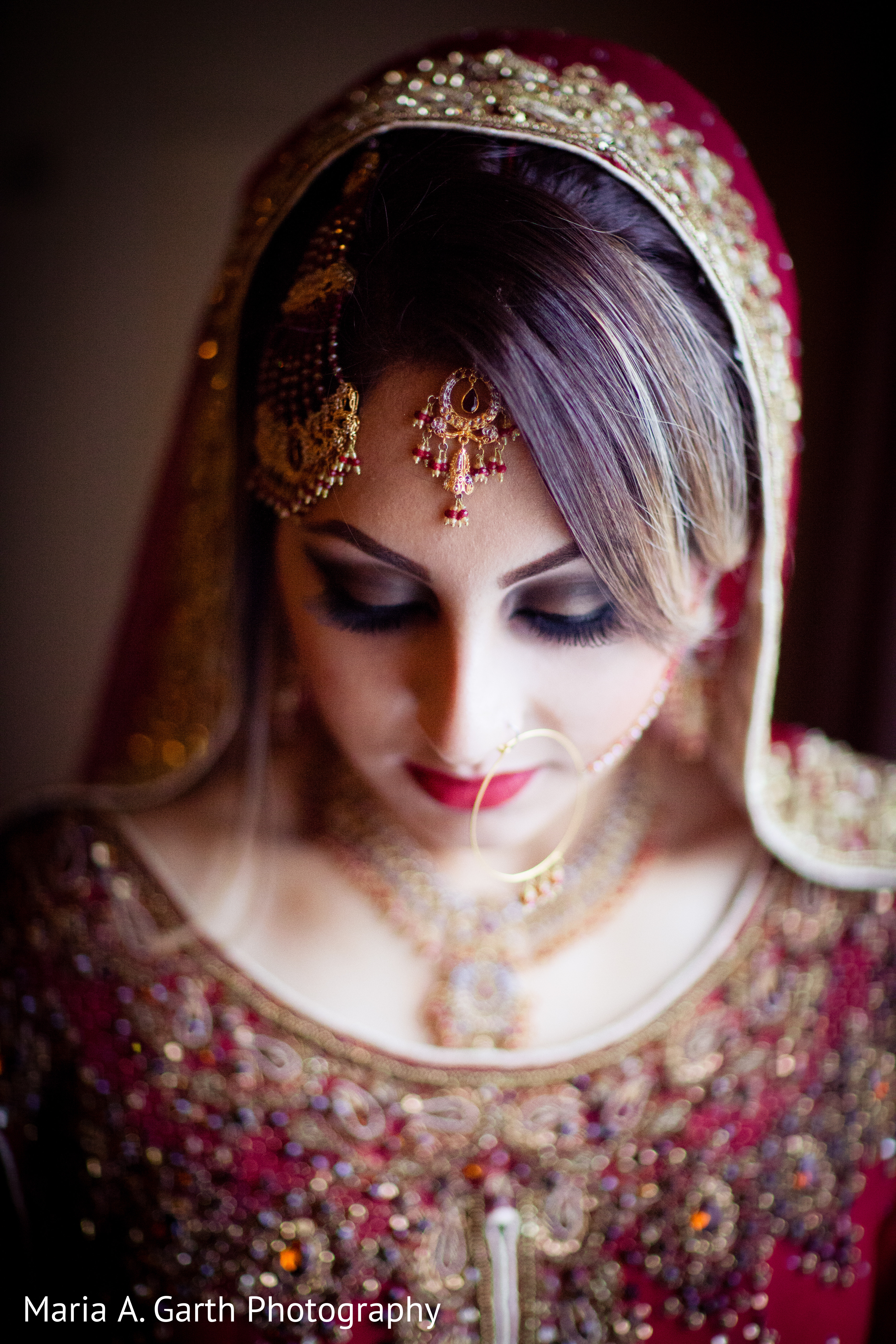 Hair & Makeup in New Castle, DE Pakistani Wedding by Maria A. Garth Photography | Maharani Weddings