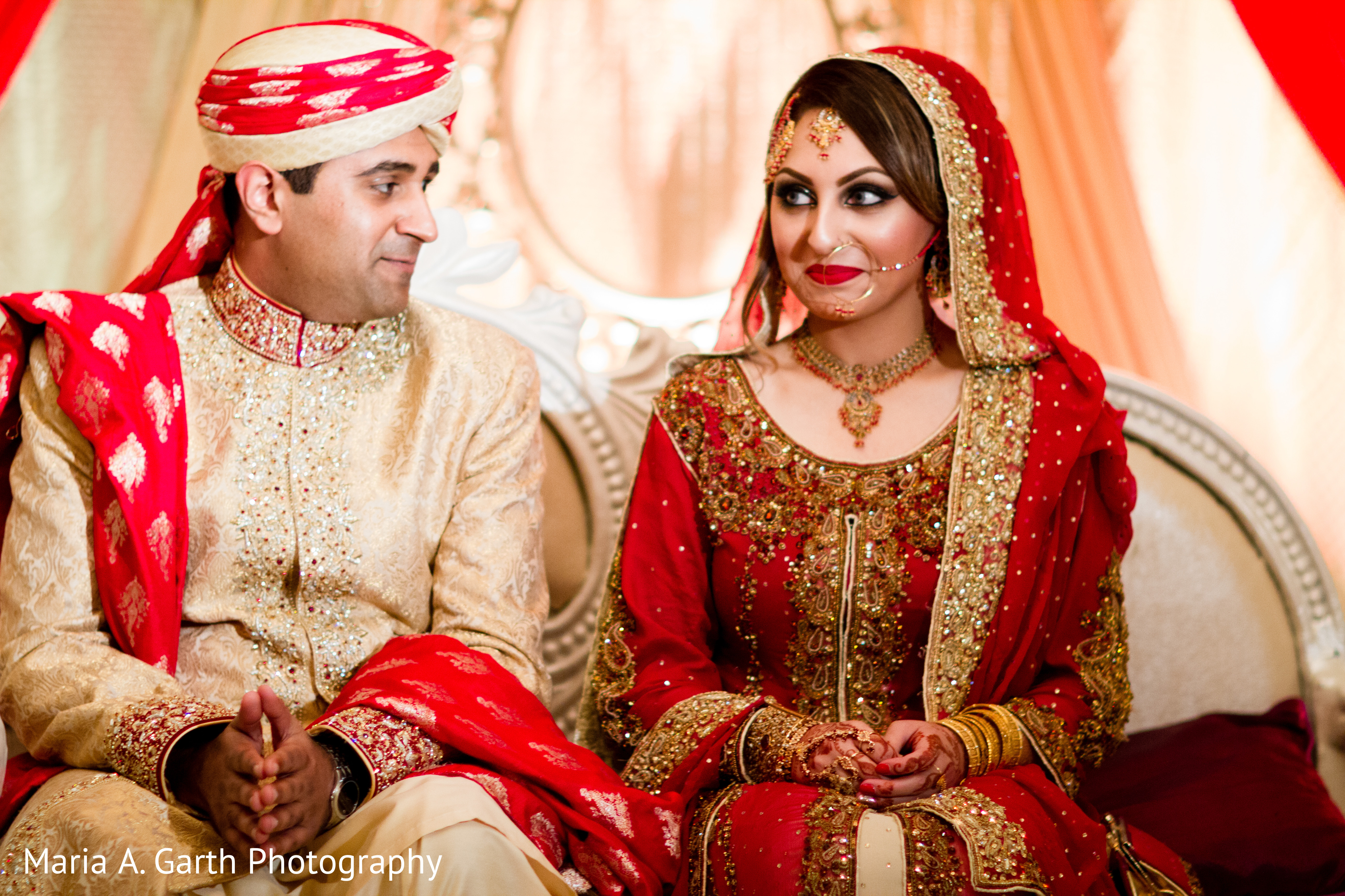 Ceremony in new castle de pakistani wedding by maria a for Pakistani wedding traditions