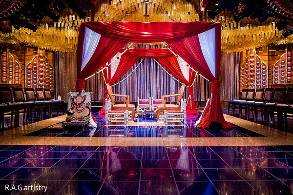 Mandap in Cozumel, Mexico Destination Indian Wedding by R.A.G.artistry