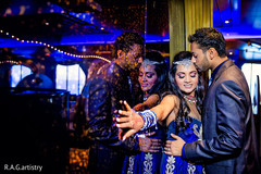 This lovely Indian bride and groom pose for beautiful reception portraits.