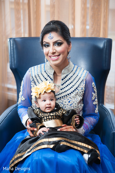Portraits in Chicago, IL Indian Fusion Wedding by Maha Designs
