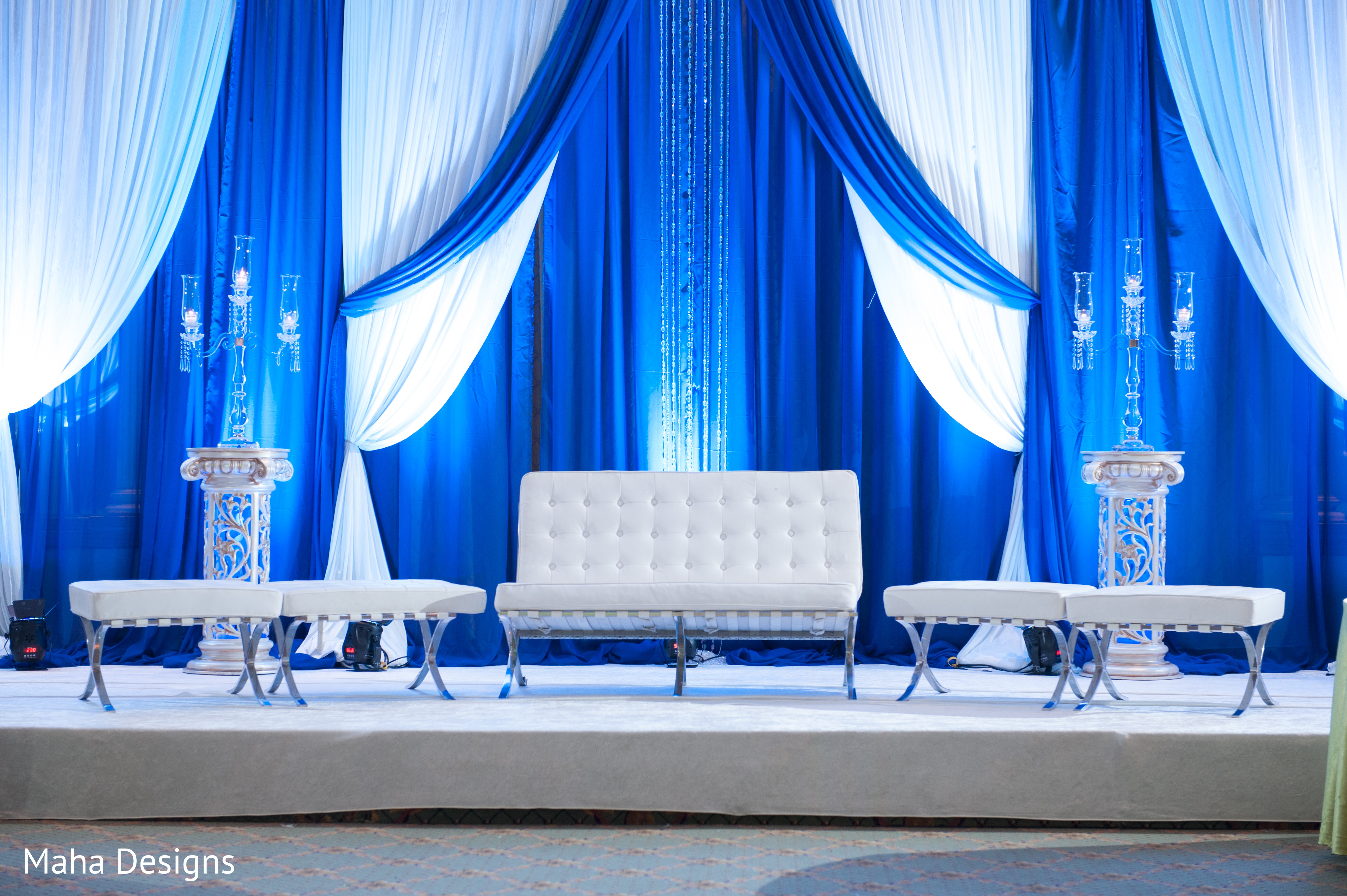 Reception In Chicago Il Indian Fusion Wedding By Maha