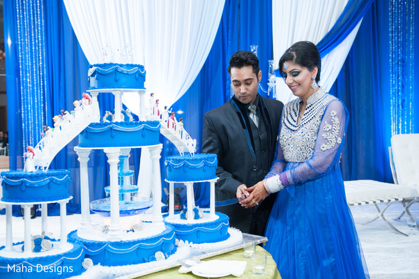 Cakes & Treats in Chicago, IL Indian Fusion Wedding by Maha Designs