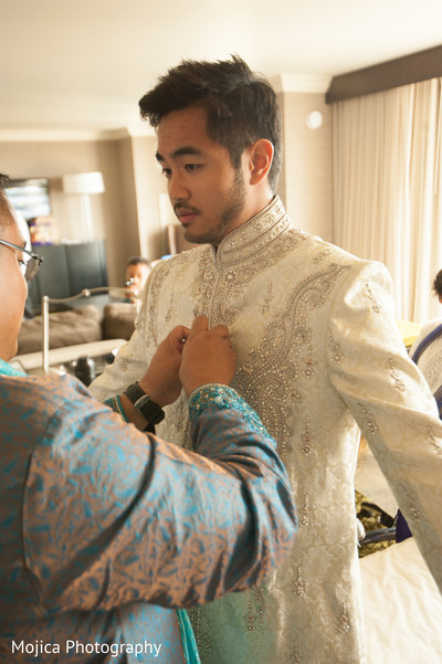 Getting Ready in Wichita, KS Indian Fusion Wedding by Mojica Photography