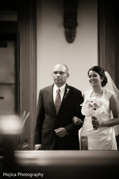 Catholic Ceremony in Wichita, KS Indian Fusion Wedding by Mojica Photography
