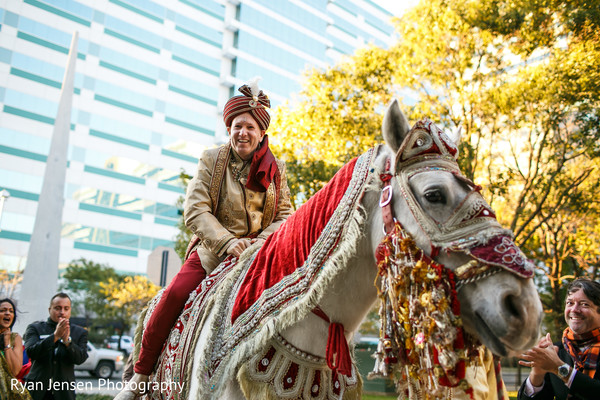 Baraat in Jersey City, NJ Indian Fusion Wedding by Ryan Jensen Photography