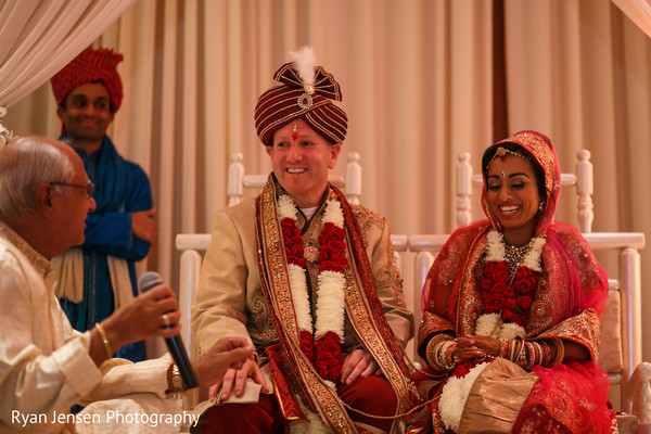 Ceremony in Jersey City, NJ Indian Fusion Wedding by Ryan Jensen Photography