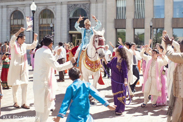 Baraat in Tulsa, OK Indian Wedding by KLK Photography