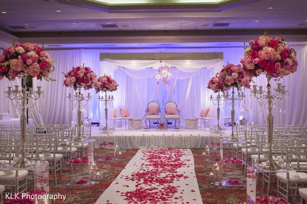 Mandap in Tulsa, OK Indian Wedding by KLK Photography