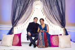 This Indian bride and groom kick off their wedding celebrations with a festive sangeet.
