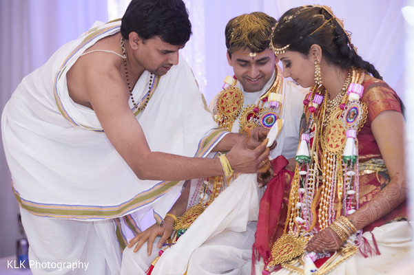 Ceremony in Tulsa, OK Indian Wedding by KLK Photography