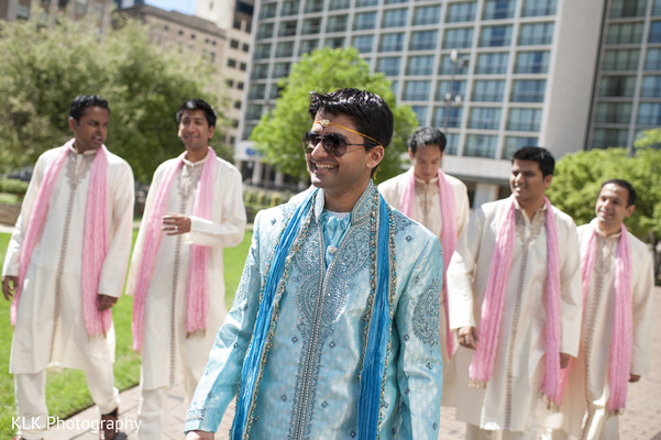 Groom Fashion in Tulsa, OK Indian Wedding by KLK Photography