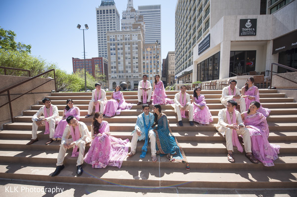 Bridal Party in Tulsa, OK Indian Wedding by KLK Photography