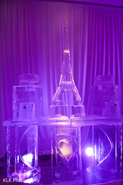 Ice Sculptures in Tulsa, OK Indian Wedding by KLK Photography