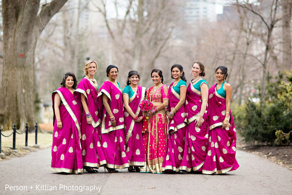 Bridal Party in Boston, MA Indian Wedding by Person + Killian Photography