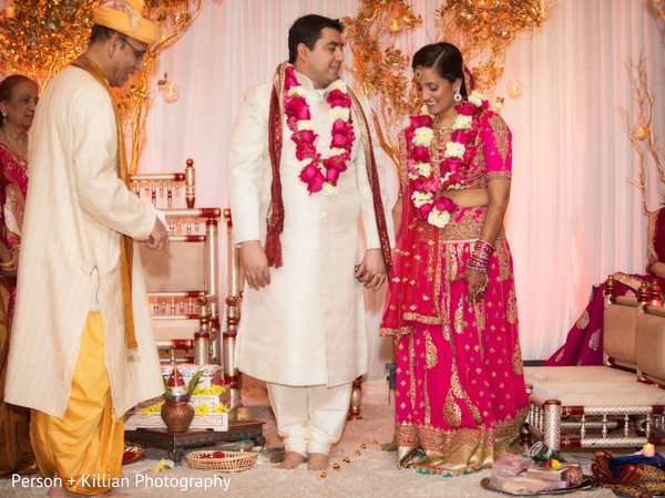 Ceremony in Boston, MA Indian Wedding by Person + Killian Photography