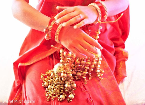 Bridal Jewelry in Alila Diwa, Goa Indian Destination Wedding by Bharat Mirchandani Photography