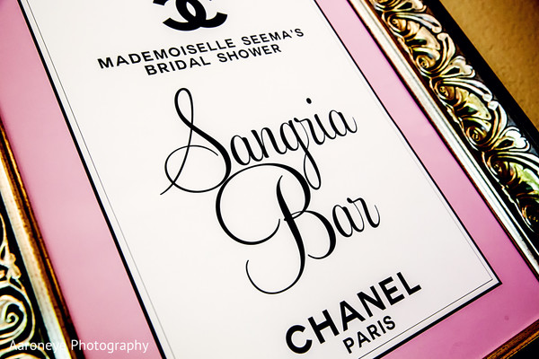 Details in Chanel-Themed Indian Bridal Shower by Aaroneye Photography