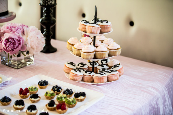 Cakes & Treats in Chanel-Themed Indian Bridal Shower by Aaroneye Photography
