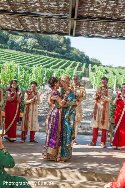 Ceremony in Napa, CA Indian Fusion Wedding by Elle Jae Wedding Photography