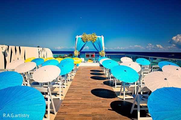 Mandap in Cancun, Mexico Indian Destination Wedding by R.A.G.artistry
