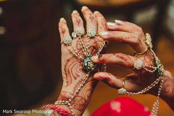 Bridal Jewelry in Bangalore, India Wedding by Mark Swaroop Photography