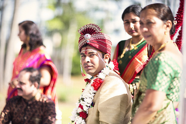 Ceremony in Savannah, GA Indian Wedding by Gagan Dhiman