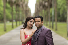 This Indian bride and groom celebrate their wedding with beautiful outdoor portraits.