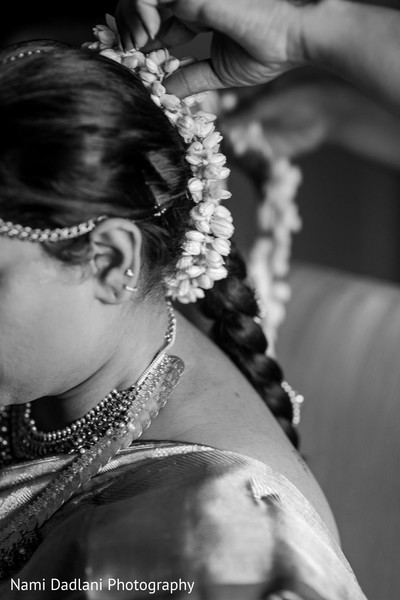 indian bride hairstyles,south indian bride hairstyles,indian weddings,black and white,indian bridal hair accessories