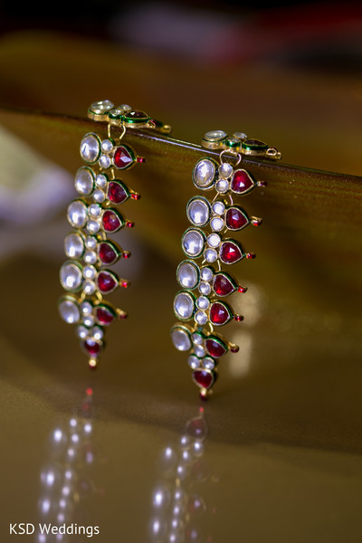 Bridal Jewelry in Parsippany, NJ Indian Fusion Wedding by KSD Weddings