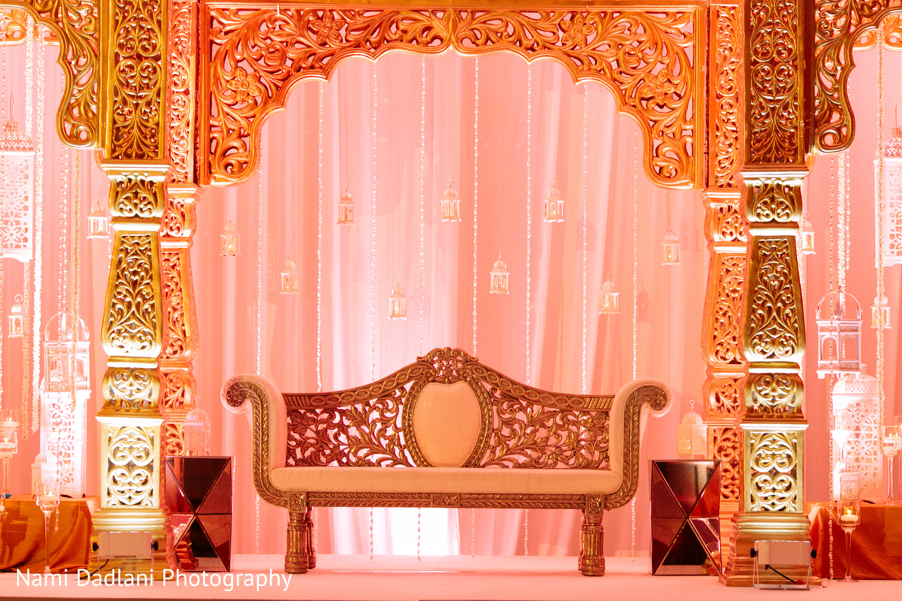 Floral decor in orlando fl indian wedding by nami for Background decoration for indian wedding
