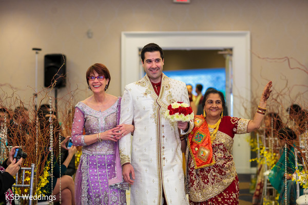 Ceremony in Parsippany, NJ Indian Fusion Wedding by KSD Weddings