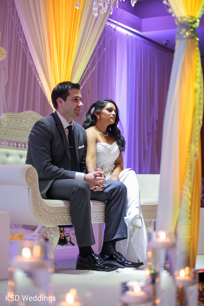 Reception in Parsippany, NJ Indian Fusion Wedding by KSD Weddings