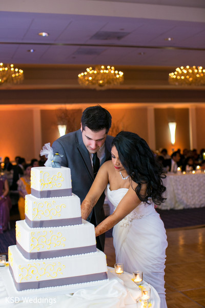 Cakes & Treats in Parsippany, NJ Indian Fusion Wedding by KSD Weddings
