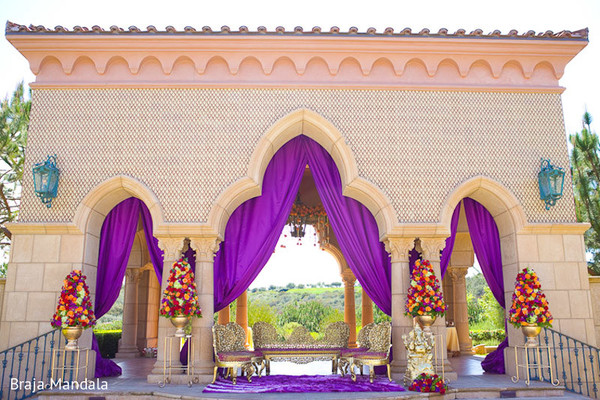 Mandap in Del Mar, CA Indian Wedding by Braja Mandala Wedding Photography