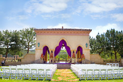 Beautiful wedding decor for an outdoor fusion ceremony!