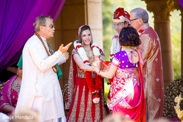 Ceremony in Del Mar, CA Indian Wedding by Braja Mandala Wedding Photography