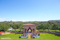 This outdoor fusion Indian wedding is simply breathtaking!