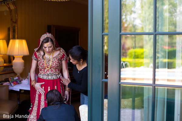 Getting Ready in Del Mar, CA Indian Wedding by Braja Mandala Wedding Photography