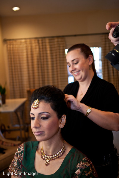 Getting Ready in Scottsdale, AZ Indian Fusion Wedding by LightRain Images