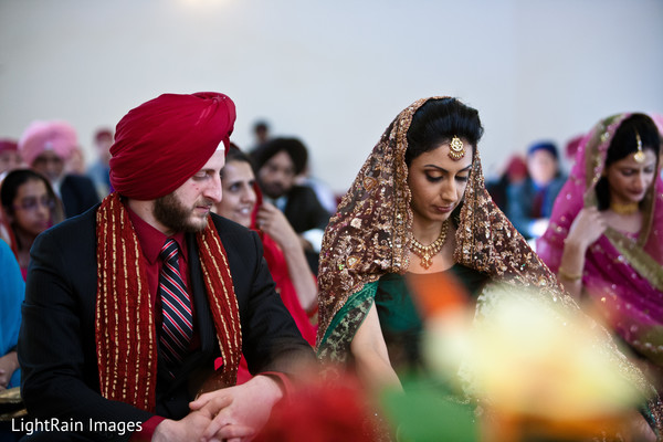 Ceremony in Scottsdale, AZ Indian Fusion Wedding by LightRain Images