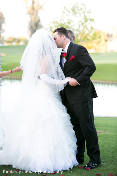 Christian Ceremony in Scottsdale, AZ Indian Fusion Wedding by Kimberly Jarman Photography