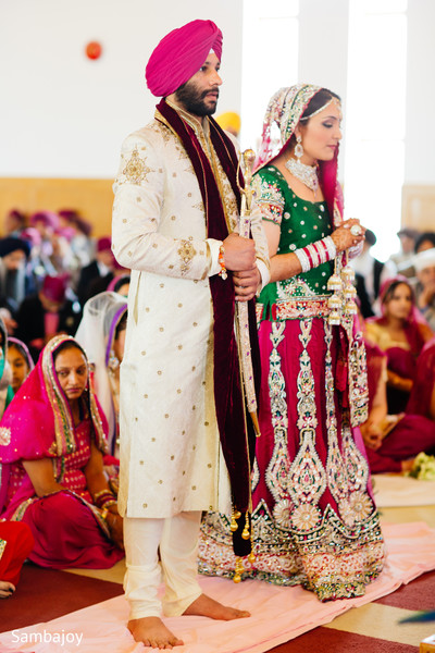 Ceremony in Winnipeg, Canada Sikh Wedding by Sambajoy