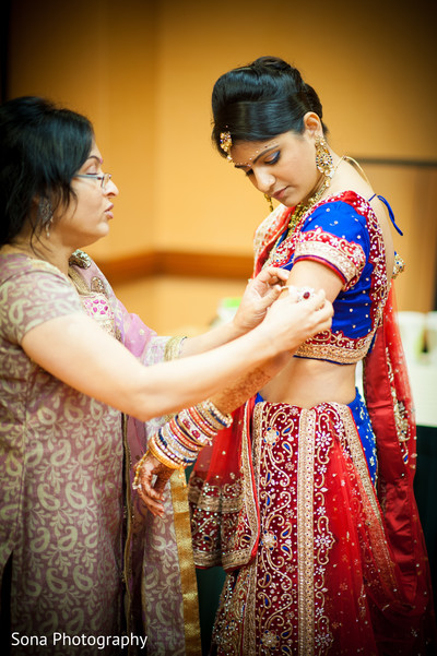 Getting Ready in St. Petersburg, FL Indian Wedding by Sona Photography